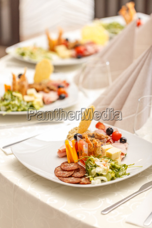 appetizer served on a plate