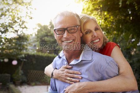 portrait of loving mature couple in