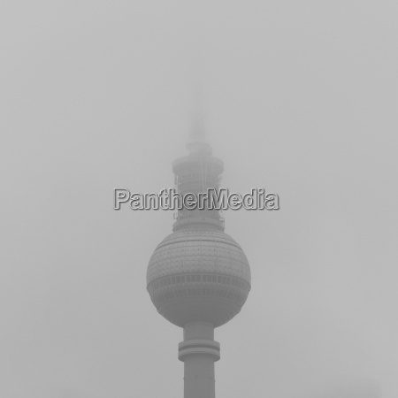 low angle view of fernsehturm against