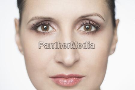 close up portrait of confident mid