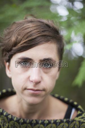 close up portrait of mid adult