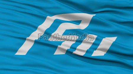 closeup ishikawa japan prefecture flag