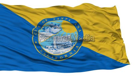 isolated santa ana city flag united