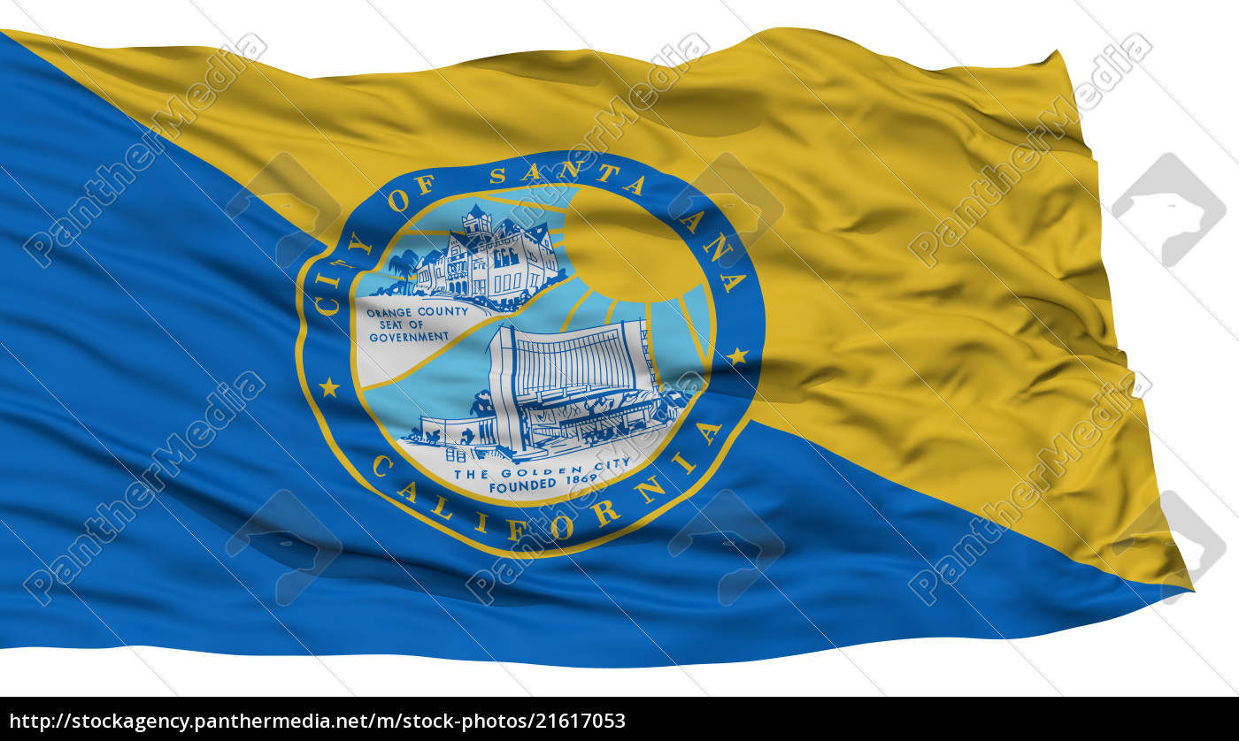 isolated, santa, ana, city, flag, , united - 21617053