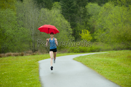 mixed race runner training on remote
