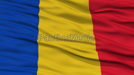 closeup romania flag