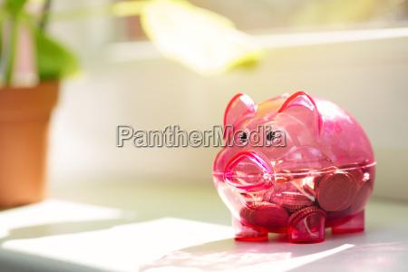 house savings piggy bank on