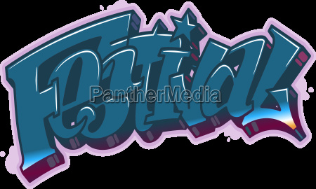 festival word in graffiti style