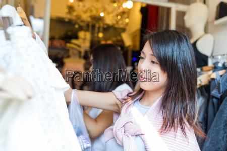 woman shopping at street market