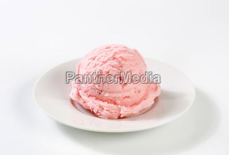 scoop of pink ice cream