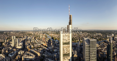 panorama of frankfurt am main with