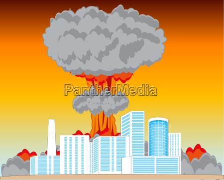 nucleus blast and city