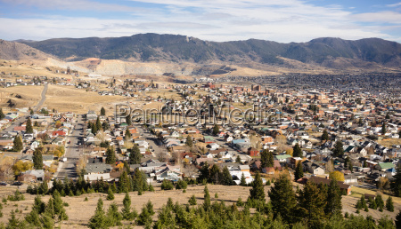 high angle overlook walkerville butte montana
