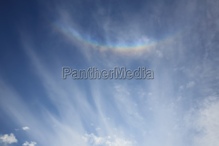 colorful rainbow radiate from the sun