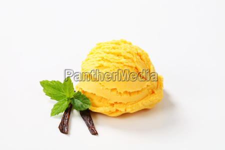 scoop of yellow ice cream