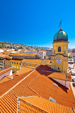 city of rijeka clock tower and