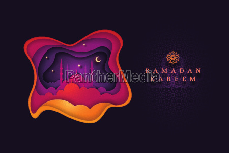 islamic greeting card design for ramadan