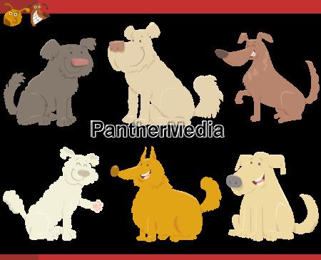 happy dogs cartoon characters