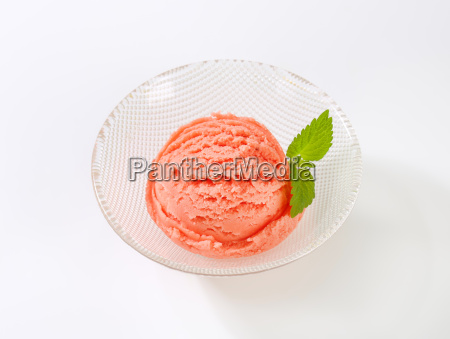 scoop of pink ice cream in