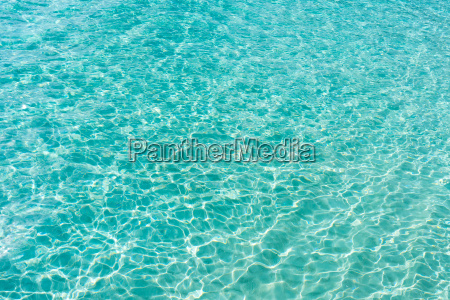 ocean with transparent blue water