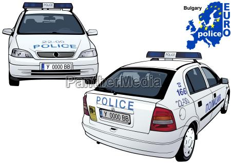 bulgary police car