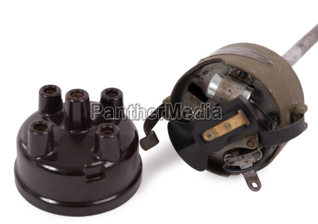 ignition distributor isolated on white background
