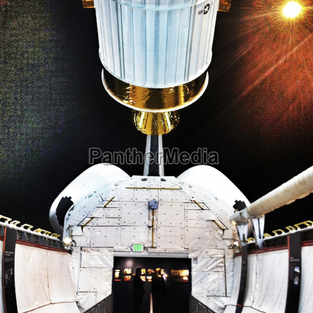 payload bay on space shuttle trainer