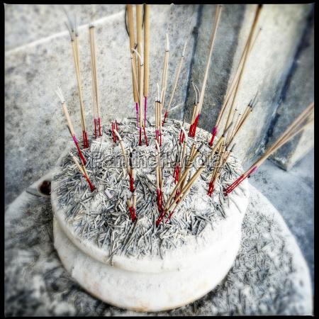 incense burning at chinese new year