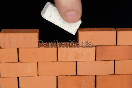 finish wall with building block