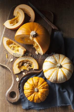 a piece of pumpkin on a
