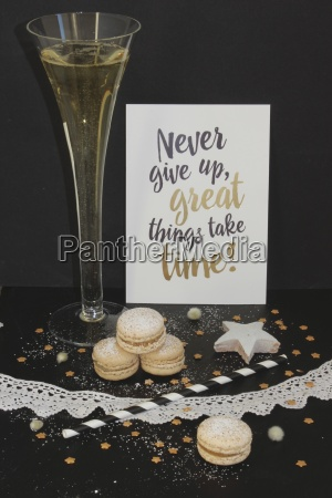a champagne glass christmas cookies and