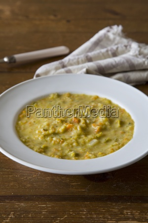 vegetable soup with leeks and carrots