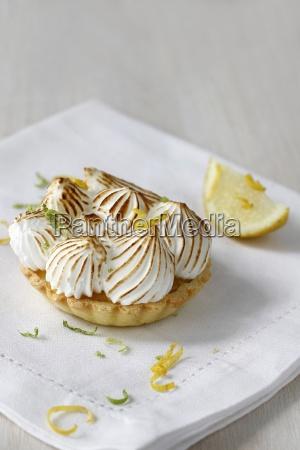 lemon meringue tart with space for