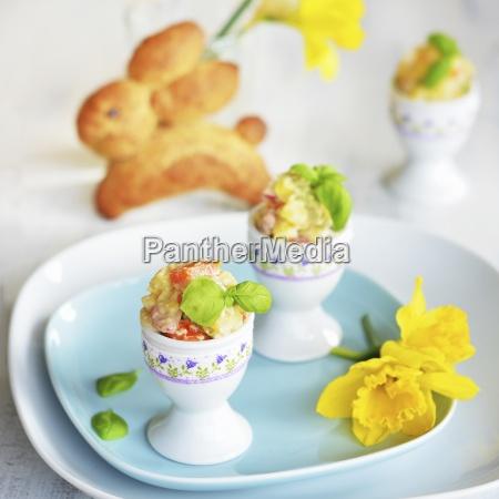 potato salad with carrot apple peas