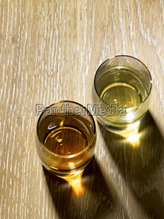 two glasses of tequila