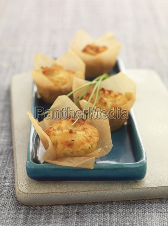 savoury cheese and onion muffins in
