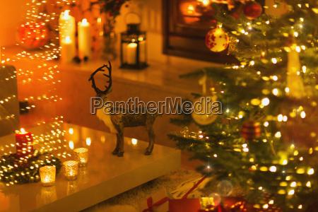 reindeer decoration in ambient living room