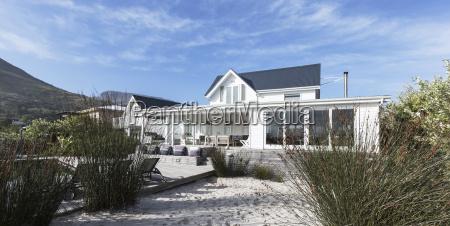 white home showcase exterior beach house
