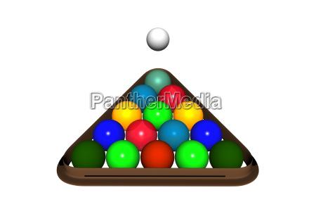 pool billiards balls released