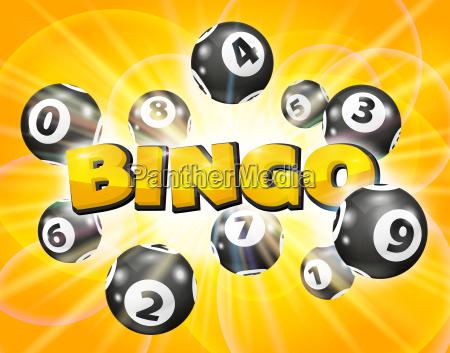 lotto balls around the word bingo