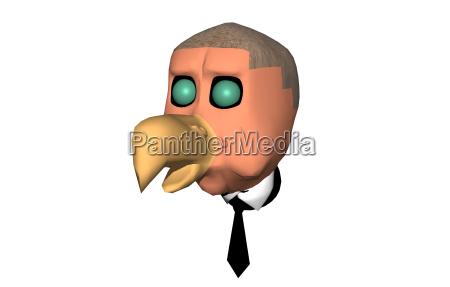 cartoon bird isolated
