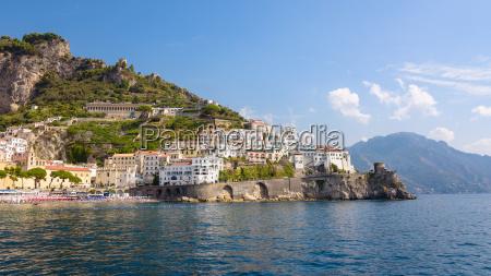 panorama of amalfi town in italy