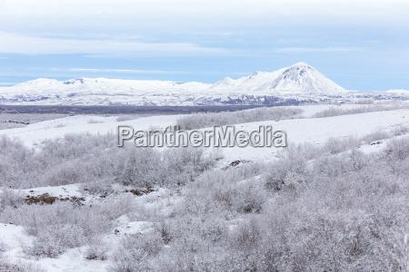 winter landscape iceland