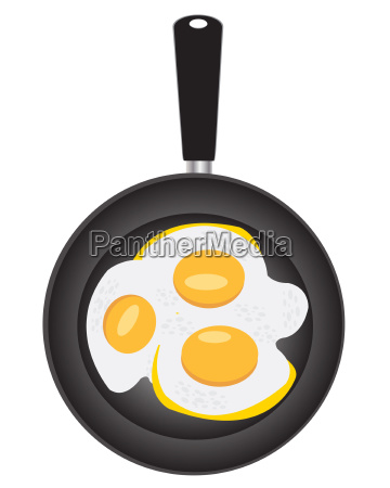 omelette from egg on griddle