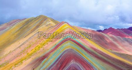 vinicunca or rainbow mountain pitumarca peru