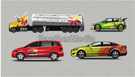 digital vector yellow red and green