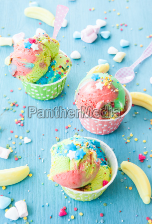colorful ice cream with sprinkles