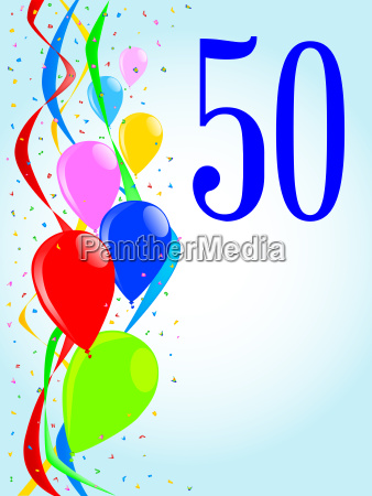 50 balloons and confetti party