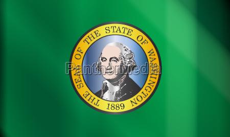 flag of washington state gloss