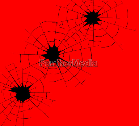 red bullet holes